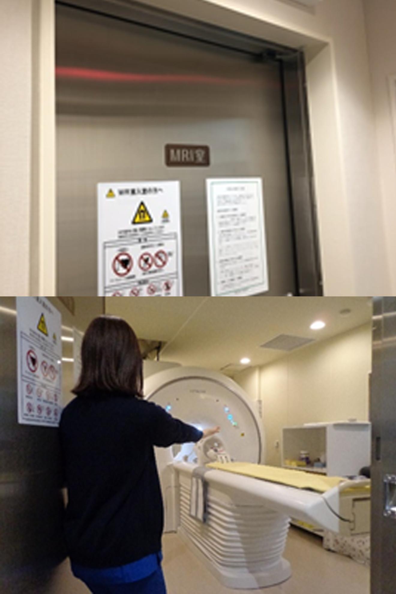 MRI検査室へ入室していただきます。